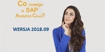 SAP Analytics Cloud – WERSJA 2018.09