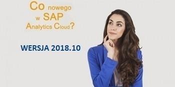 SAP Analytics Cloud – WERSJA 2018.10